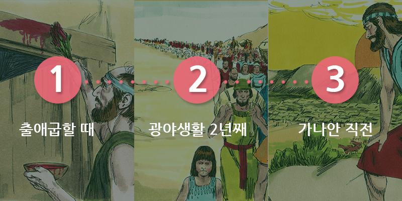 유월절의 참 의미, 40년 광야길에서 지켰던 3번의 유월절